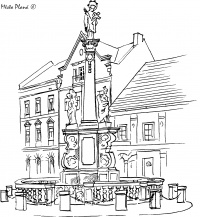 The Saint John Column and Public Fountains