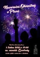 Novoroční ohňostroj v Plané 1